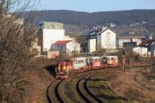 ''Trojča'' EMU 89.0003 na ceste do areálu Dopravného podniku Bratislava
