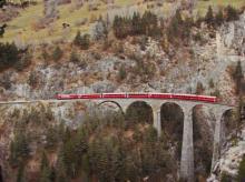 Ge 4/4 650 RhB na Landwasserskom viadukte