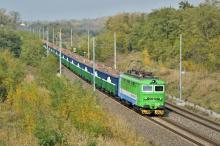Súprava nových vozňov RTI rady Eaos dnes cez Bratislavu