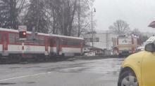 Nehoda vlaku Os 7915 s CMV v Dolnom Kubíne