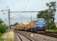 Přeprava traťových strojů Swietelsky z Břeclavi do Úval