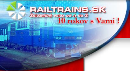 10 rokov railtrains.sk - Železničný relax od A po Ž